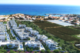 View on the Premier Pearl villas on the seacoast of Cyprus